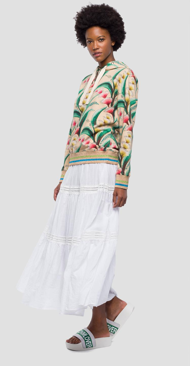 Sweatshirt with floral print w3172a.000.71772