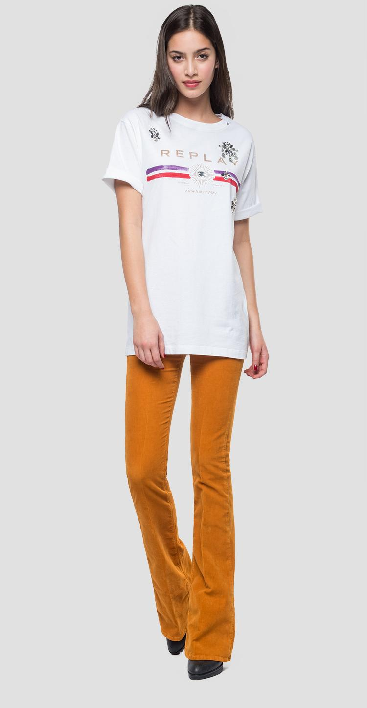 Cotton t-shirt with print w3233d.000.22662