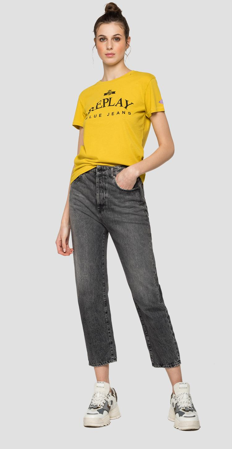 T-shirt with REPLAY BLUE JEANS print w3310 .000.20994