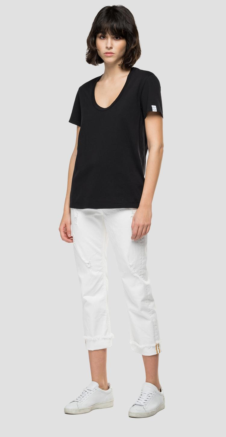 Camiseta con cuello de pico REPLAY Essential w3336 .000.23100g