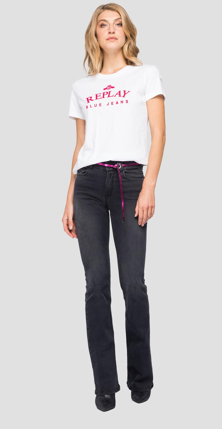 REPLAY BLUE JEANS print t-shirt w3517 .000.22832p
