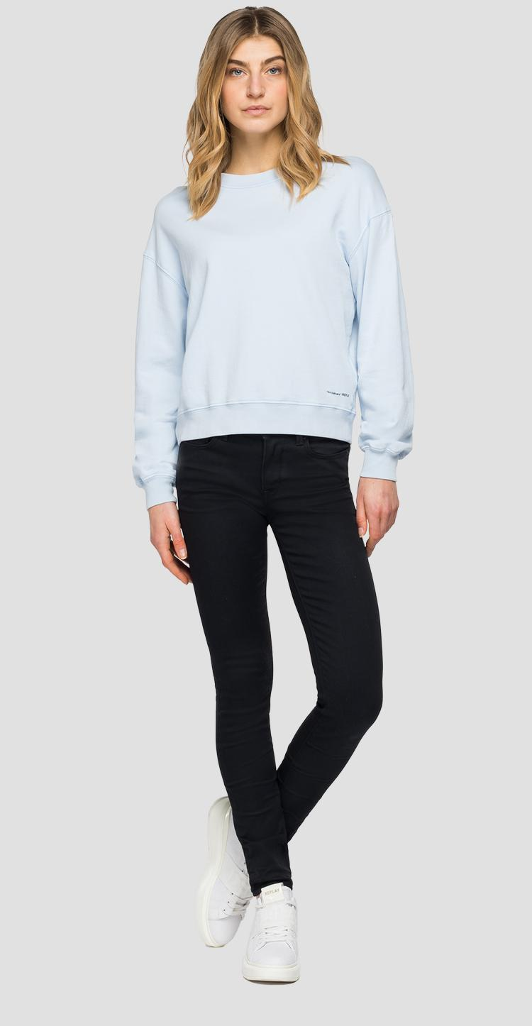 Crewneck slim fit sweatshirt w3551e.000.23158g