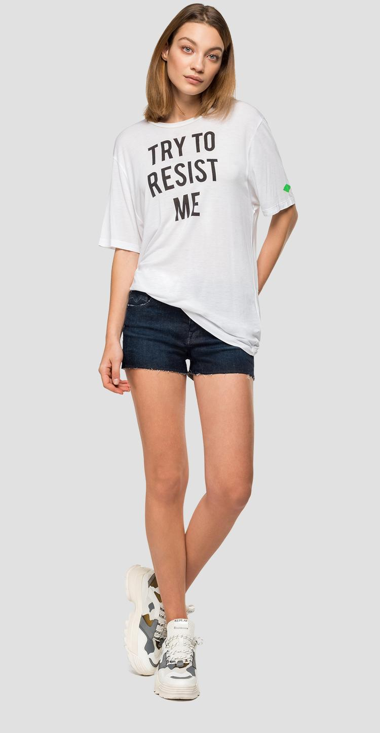 TRY TO RESIST ME viscose t-shirt - Replay