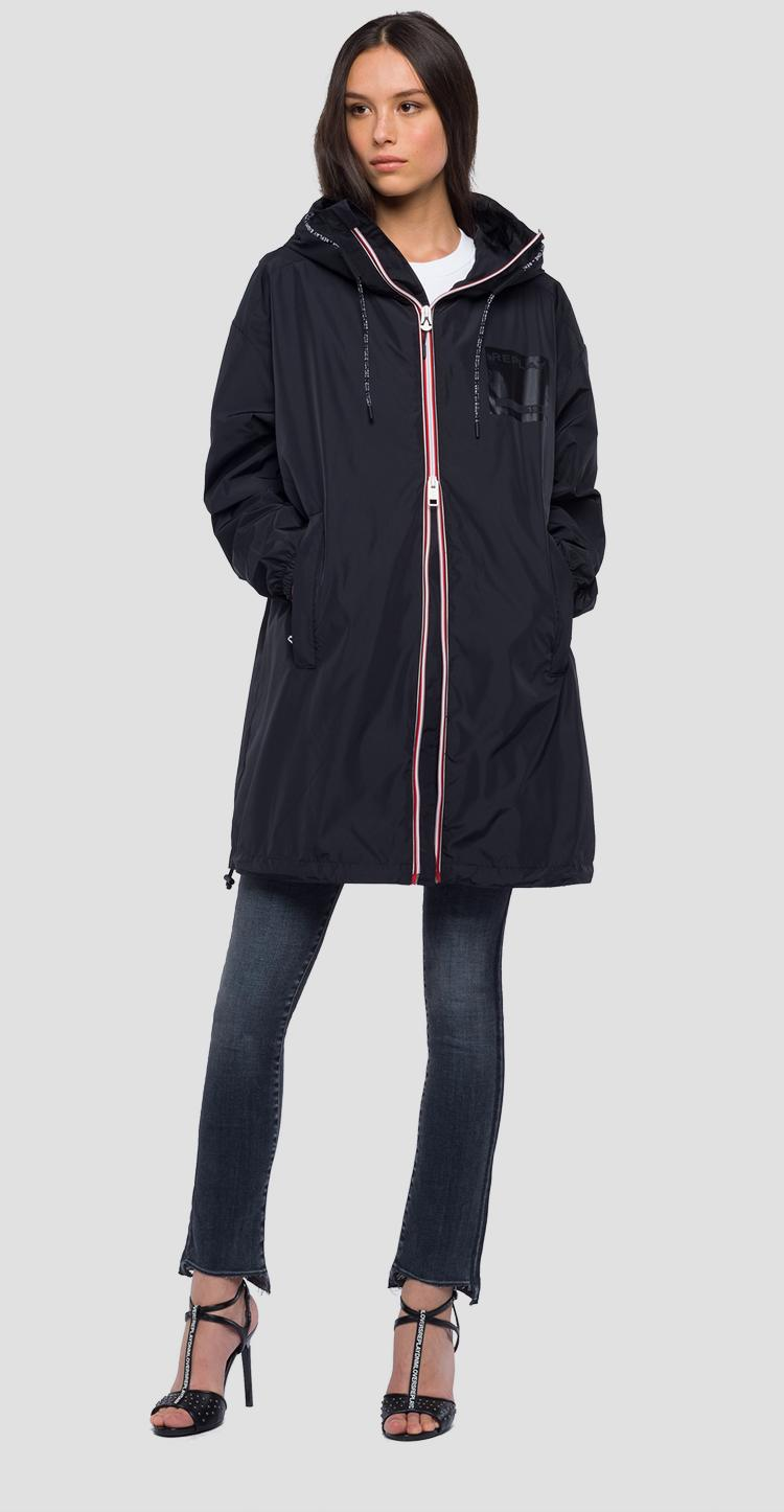 Technical parka with hood w7509 .000.83320