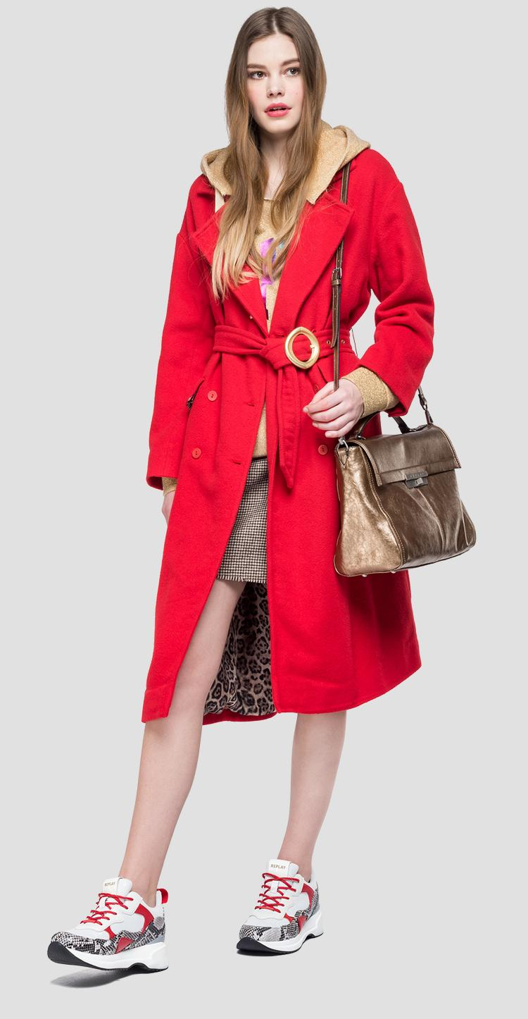 Classic coat with belt - Replay