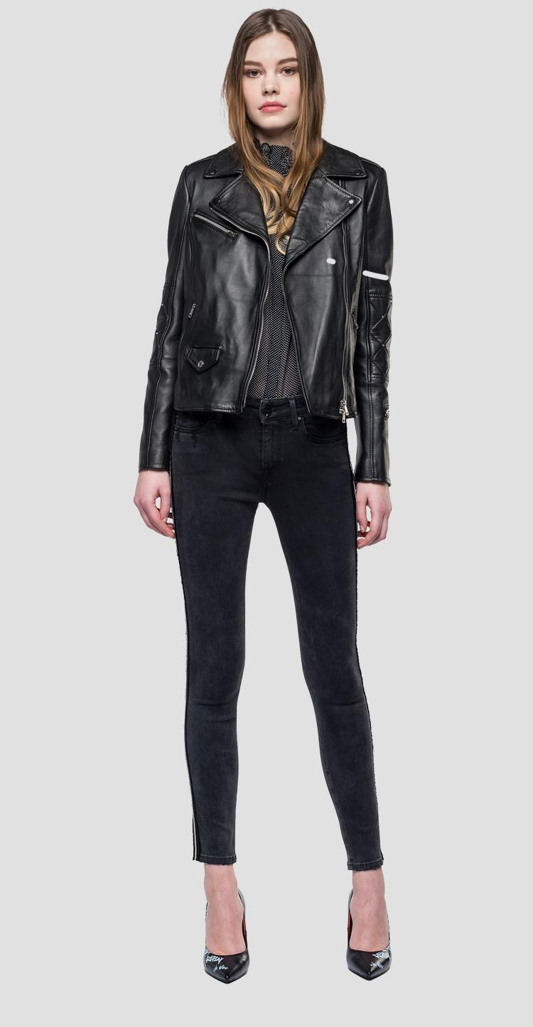 Biker leather jacket - Replay