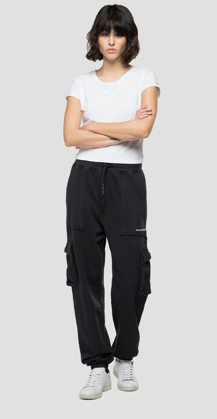 Jogger pants with pockets in organic cotton w8001 .000.23158g