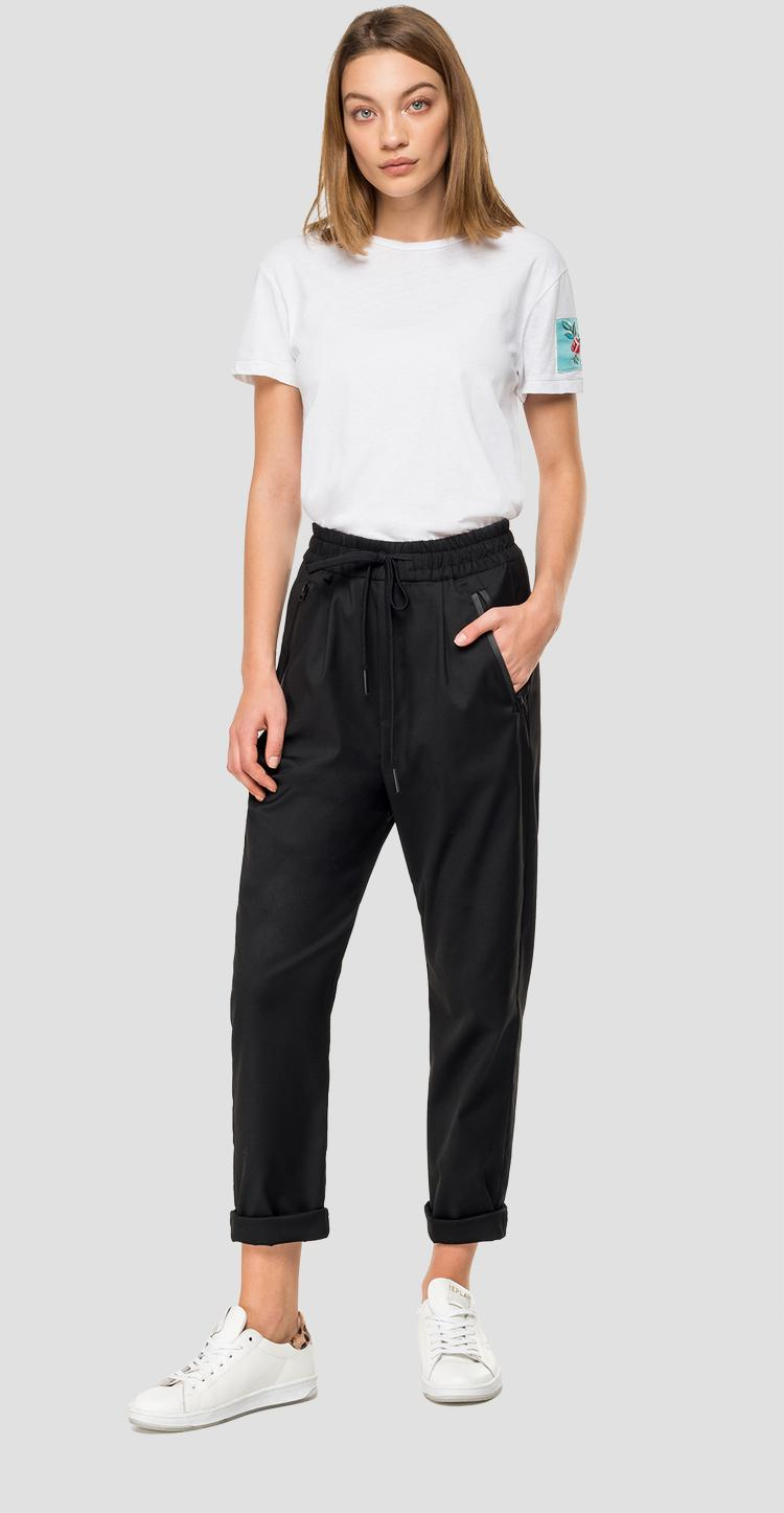 Trousers with zipper and drawstring w8505 .000.50571