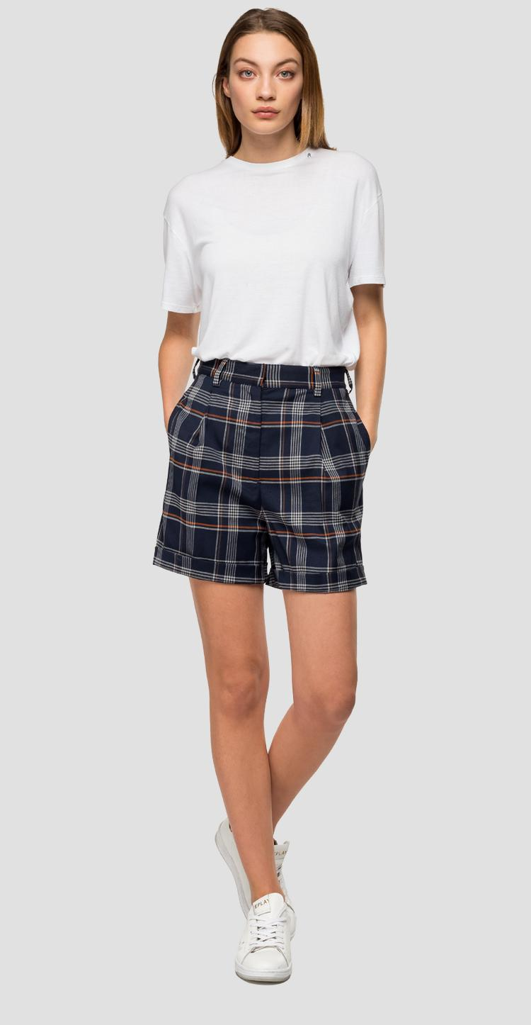 Comfort fit checked shorts - Replay