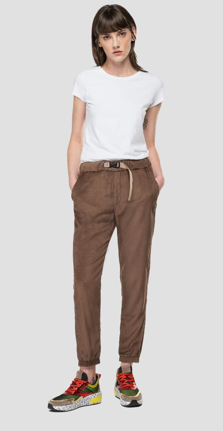 Essential Corduroy jogger pants with belt w8544 .000.84208g