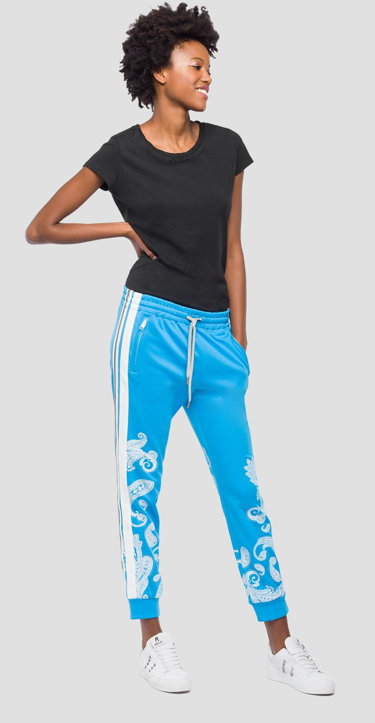 Jogging pants with print w8793a.000.22610