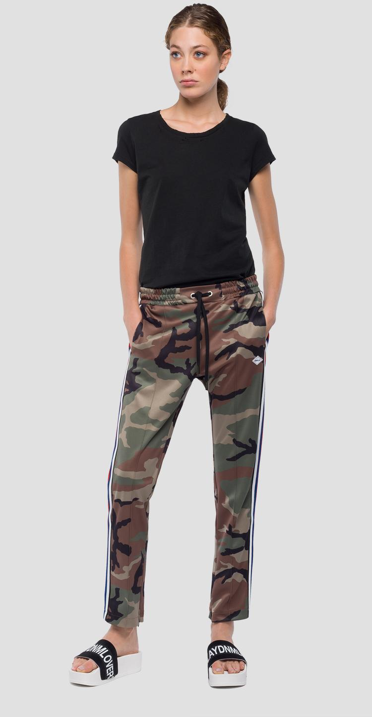 Jogging pants with camouflage print w8798 .000.71768