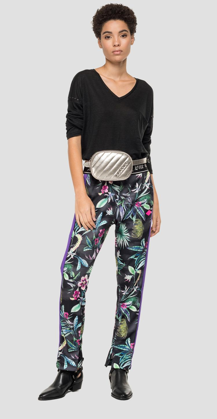 REPLAY floral trousers w8858 .000.72040