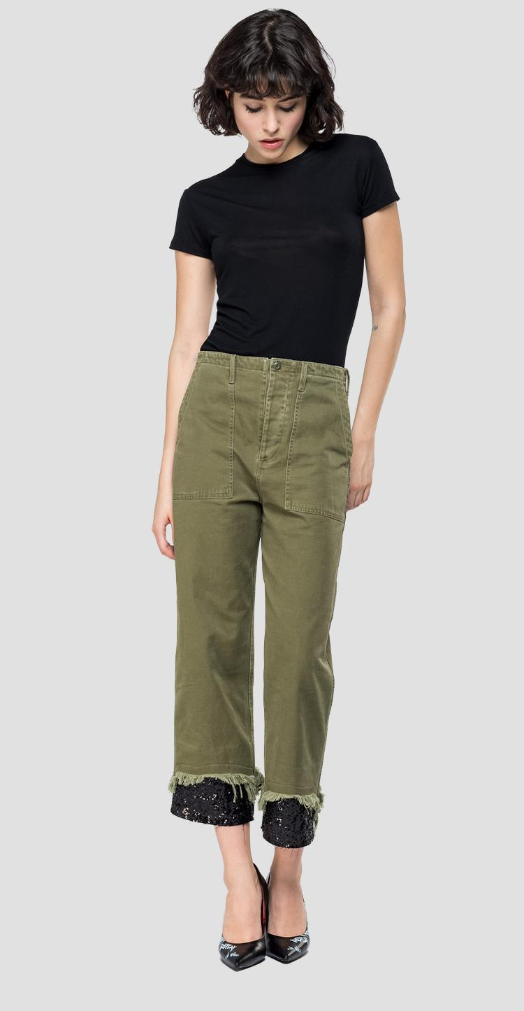 Cargo pants with sequins w8860 .000.83466