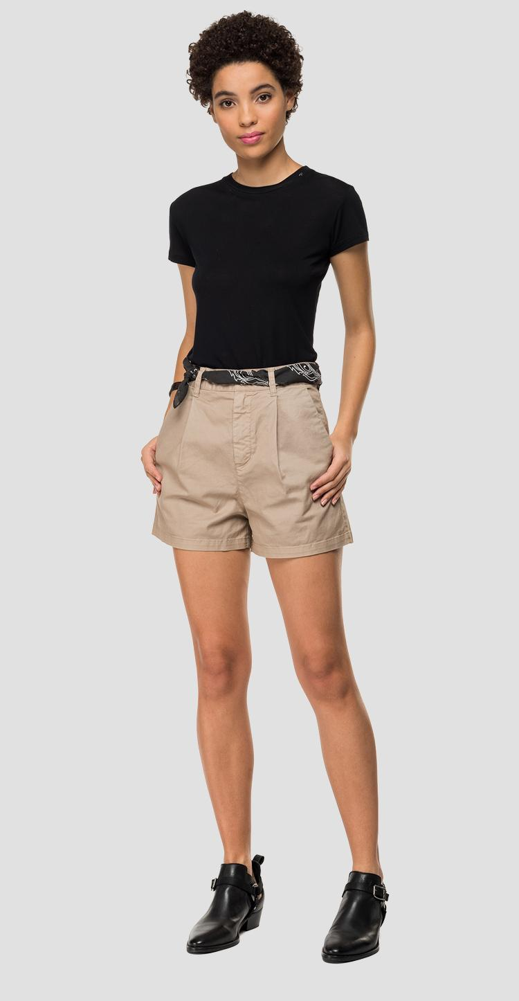 Comfort fit short pants with used effect - Replay