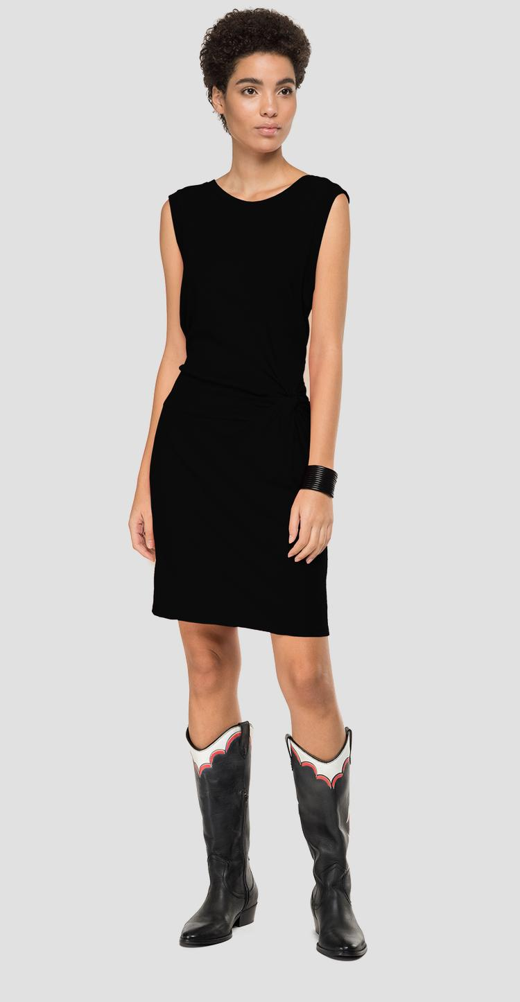 Sleeveless dress with knot w9273 .000.22830g
