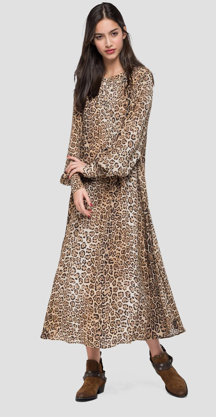 Long animalier dress - Replay