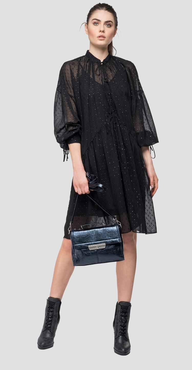 Dress in transparent georgette - Replay