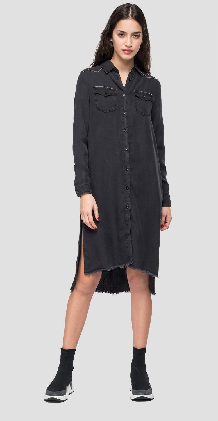 Denim raw cut dress - Replay