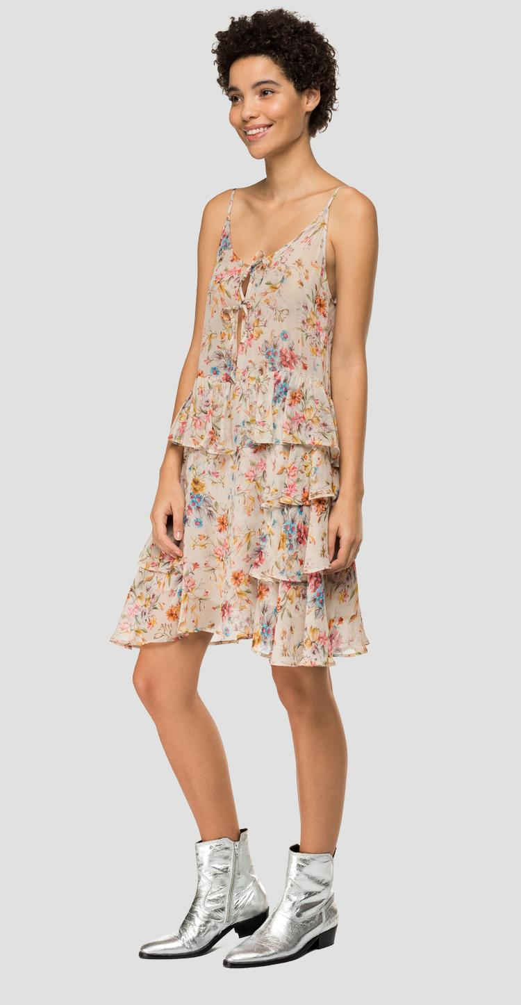 Floral dress with frills w9613 .000.72098