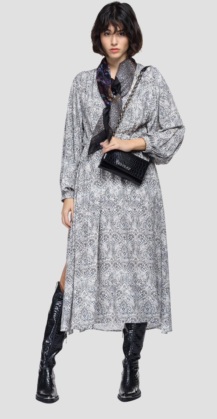 Dress with all-over paisley print w9707 .000.73502