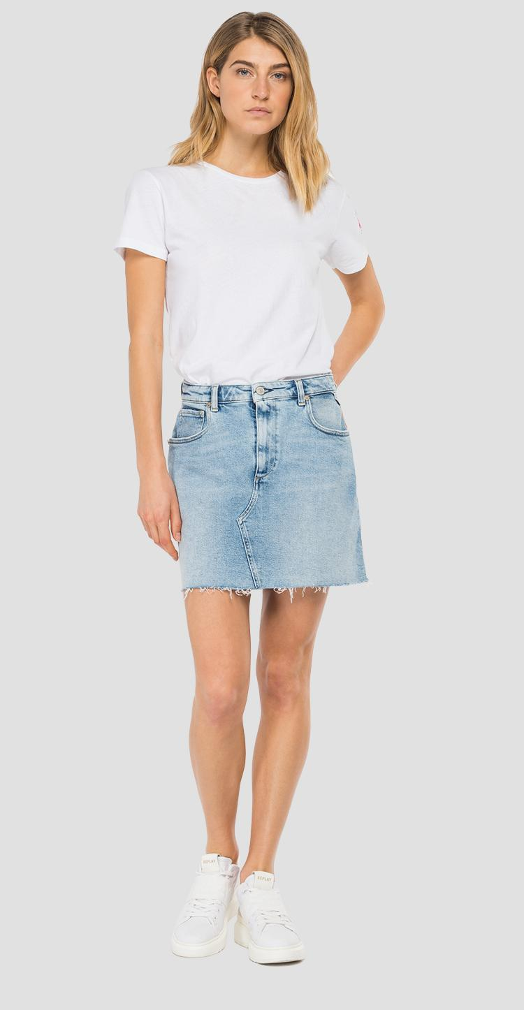 ROSE LABEL denim midi skirt w9898r.000.207 80d