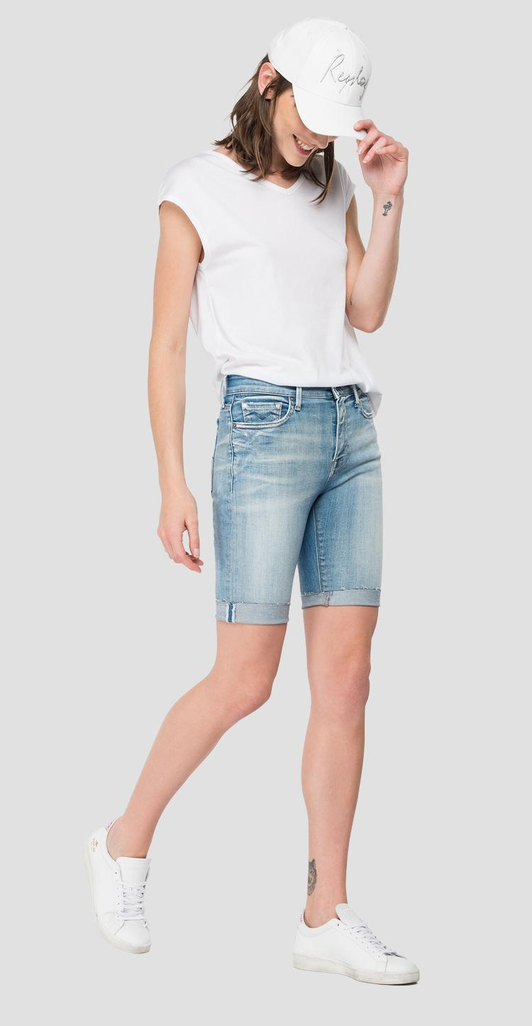 ROSE LABEL denim bermuda shorts wa427e.000.427 889
