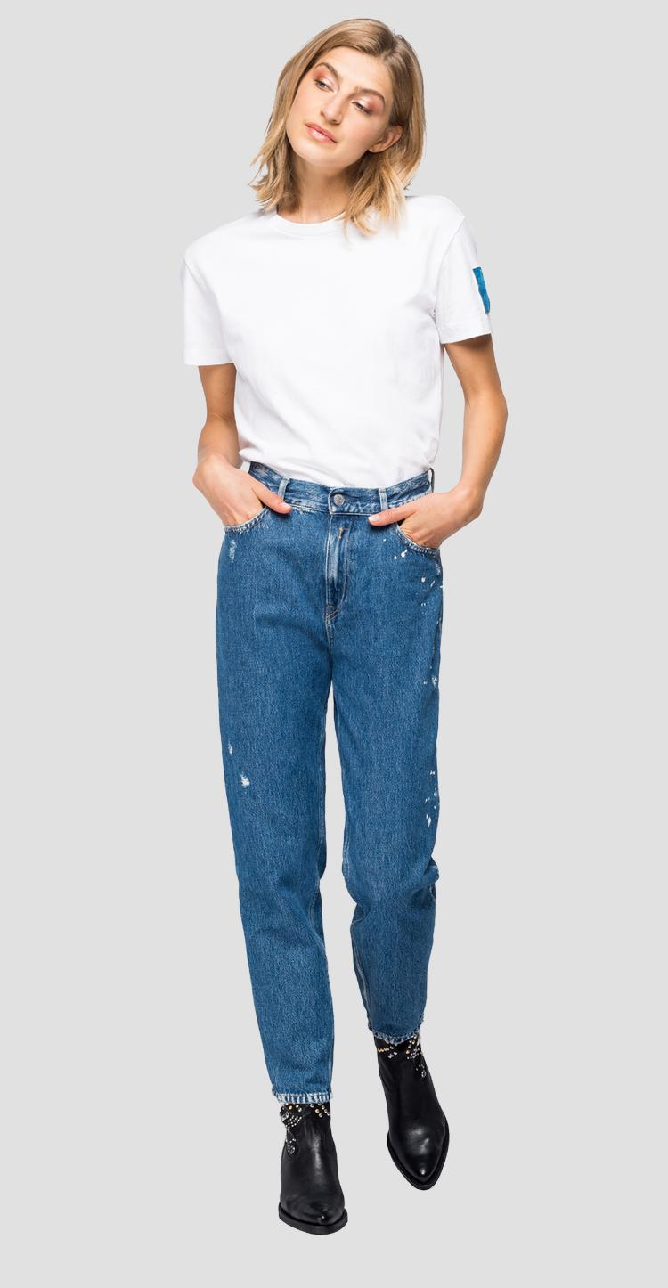 Tapered fit high waist Kiley Rose Label jeans wa434 .000.108 797