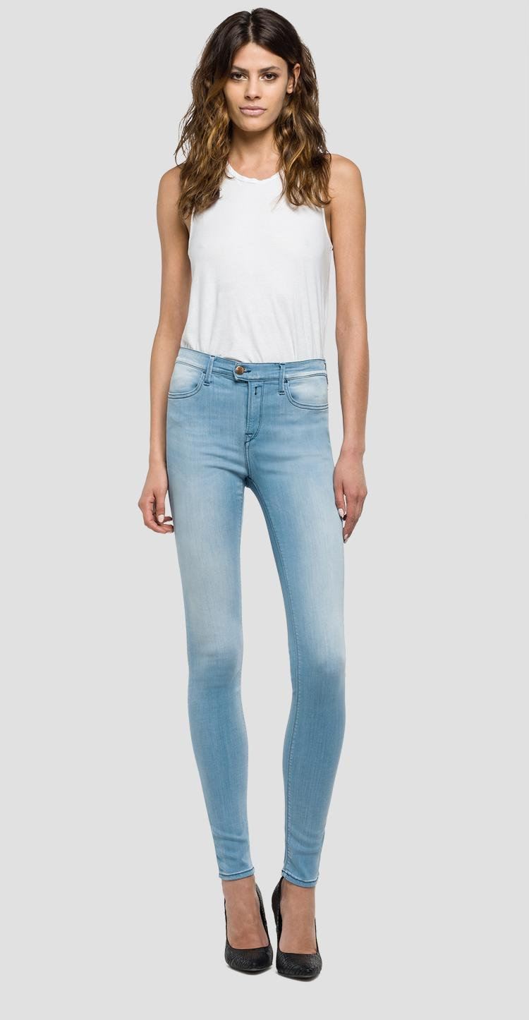 d53eed1a98 High waist skinny-fit Touch jeans - Replay