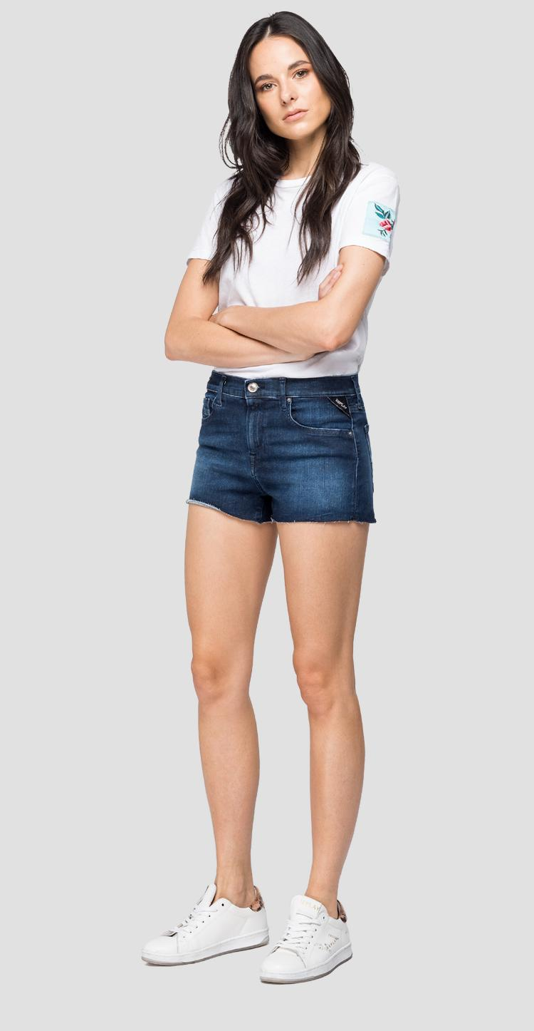 Short pants in Hyperflex Clouds denim wa695 .000.661 e05