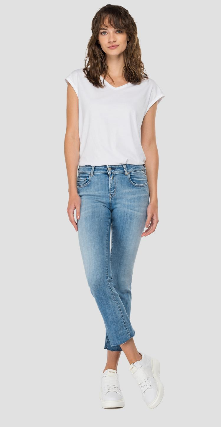Vaqueros flare crop bootcut fit Faaby ROSE LABEL wc429 .026.427 889