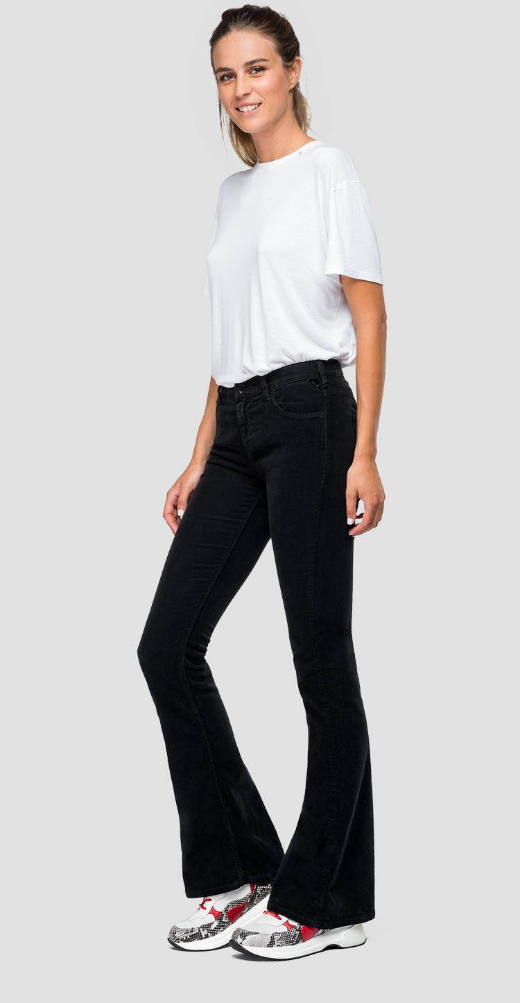 Flare fit Stella velvet trousers - Replay