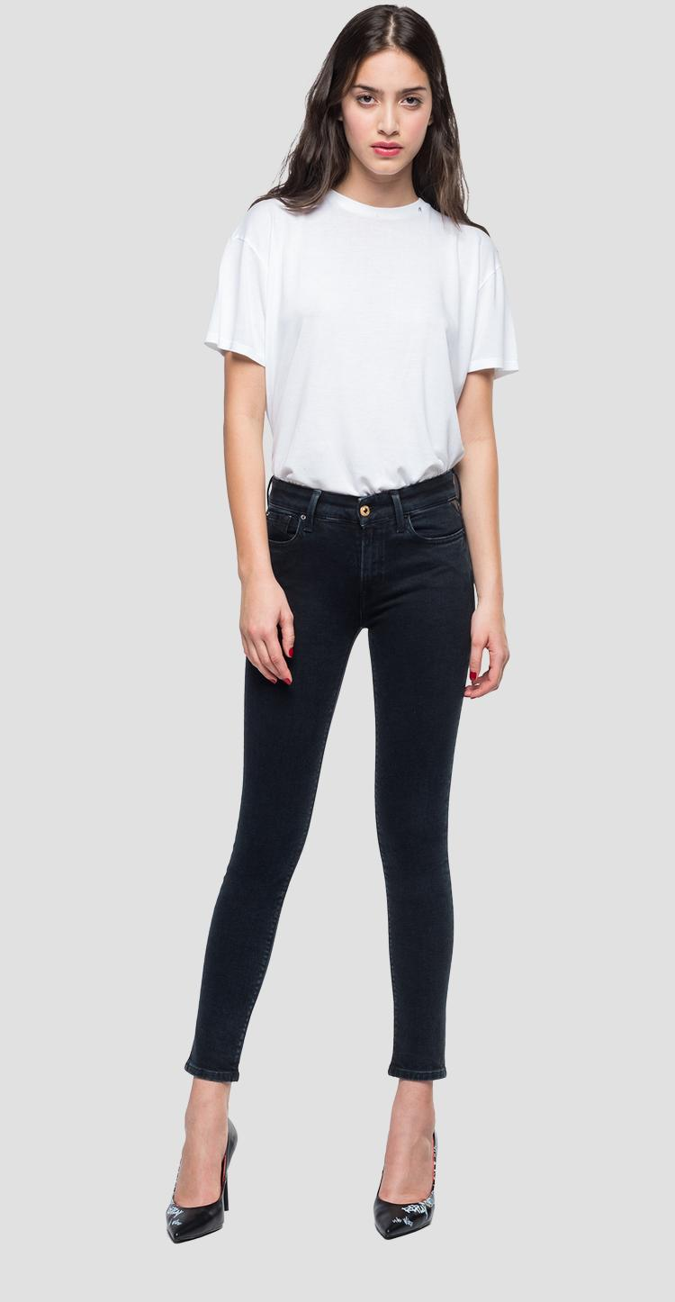 Skinny high waist fit Luz with blue-black overdyed denim wh689 .000.143 541