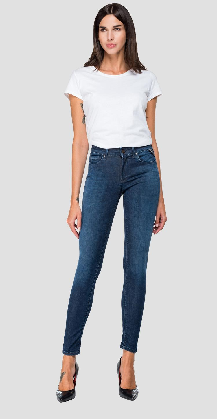 Skinny high waist fit Hyperflex New Luz jeans Clouds - Replay