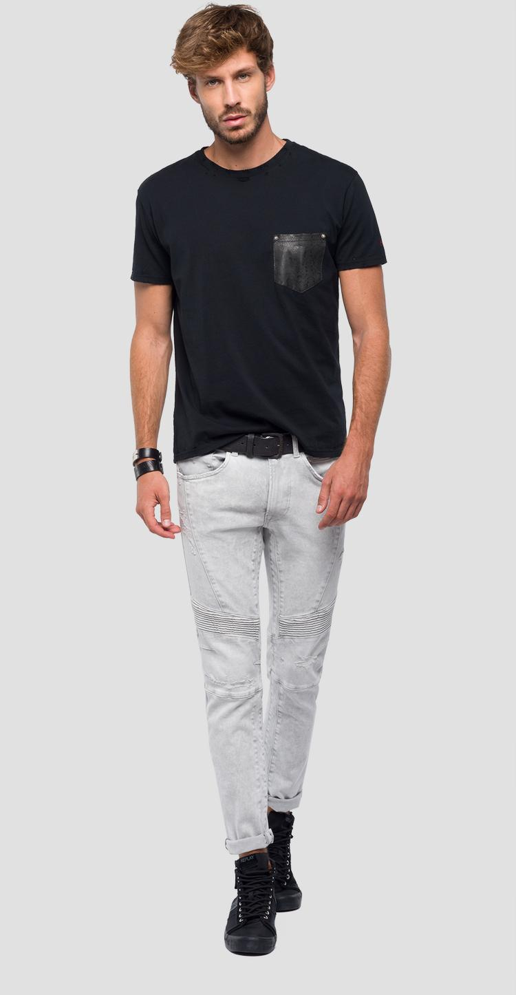 11f520e6b0 T-shirt with contrasting pocket - Replay